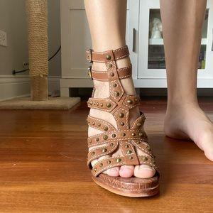 Sam Edelman size 6 gladiator heeled sandal